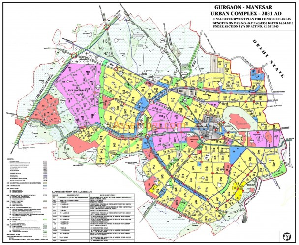 gurgaon-master-plan-2031-map-color