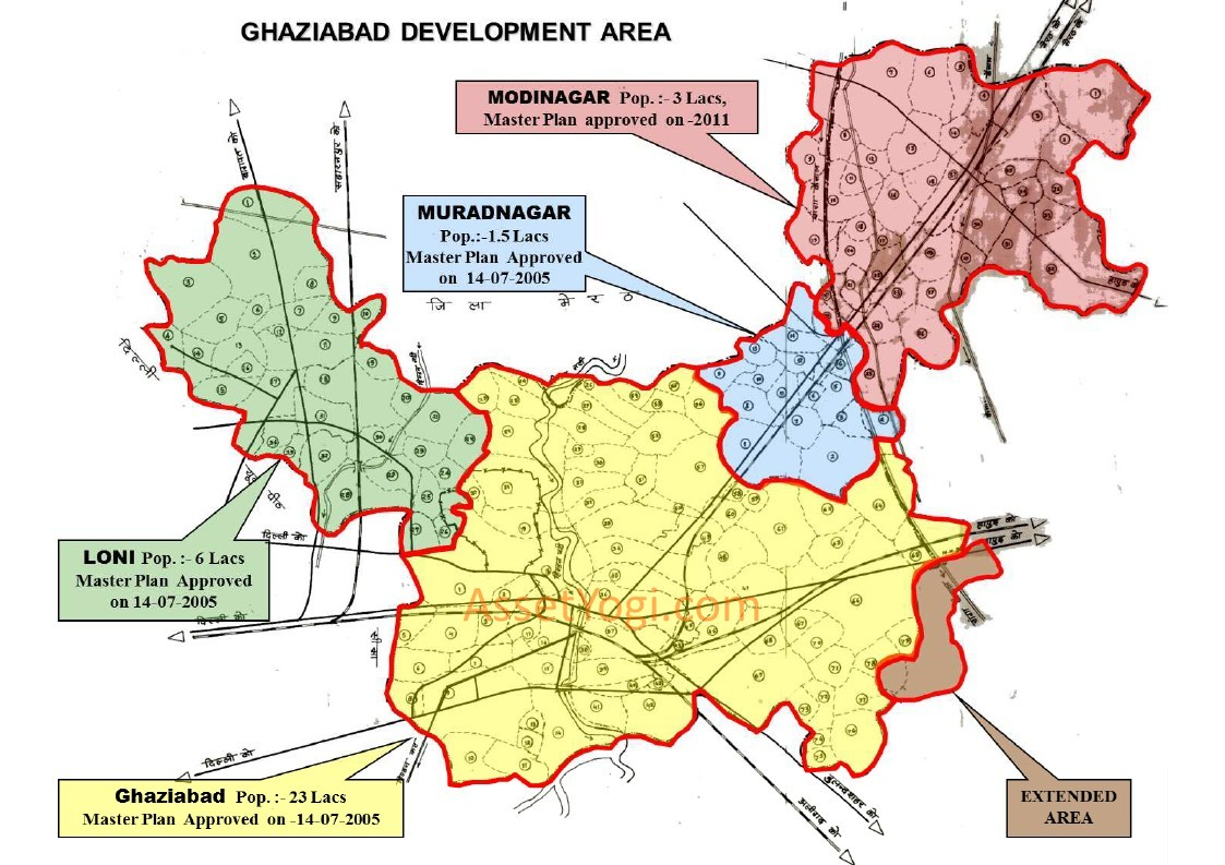 Ghaziabad Master Plan Map Summary Free Download - Ghaziabad map