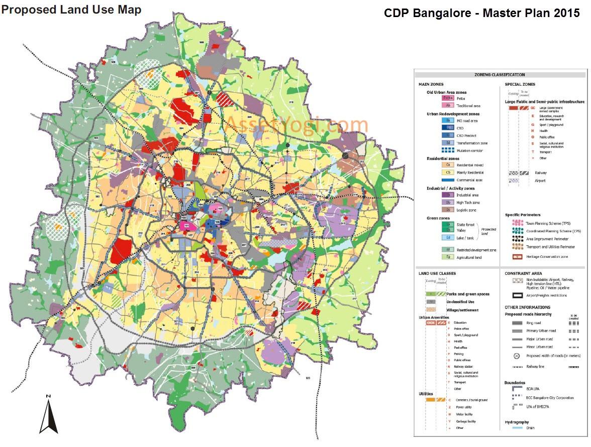 Bangalore Map Pdf CDP Bangalore Master Plan 2031, 2015   Map, Summary & Download!