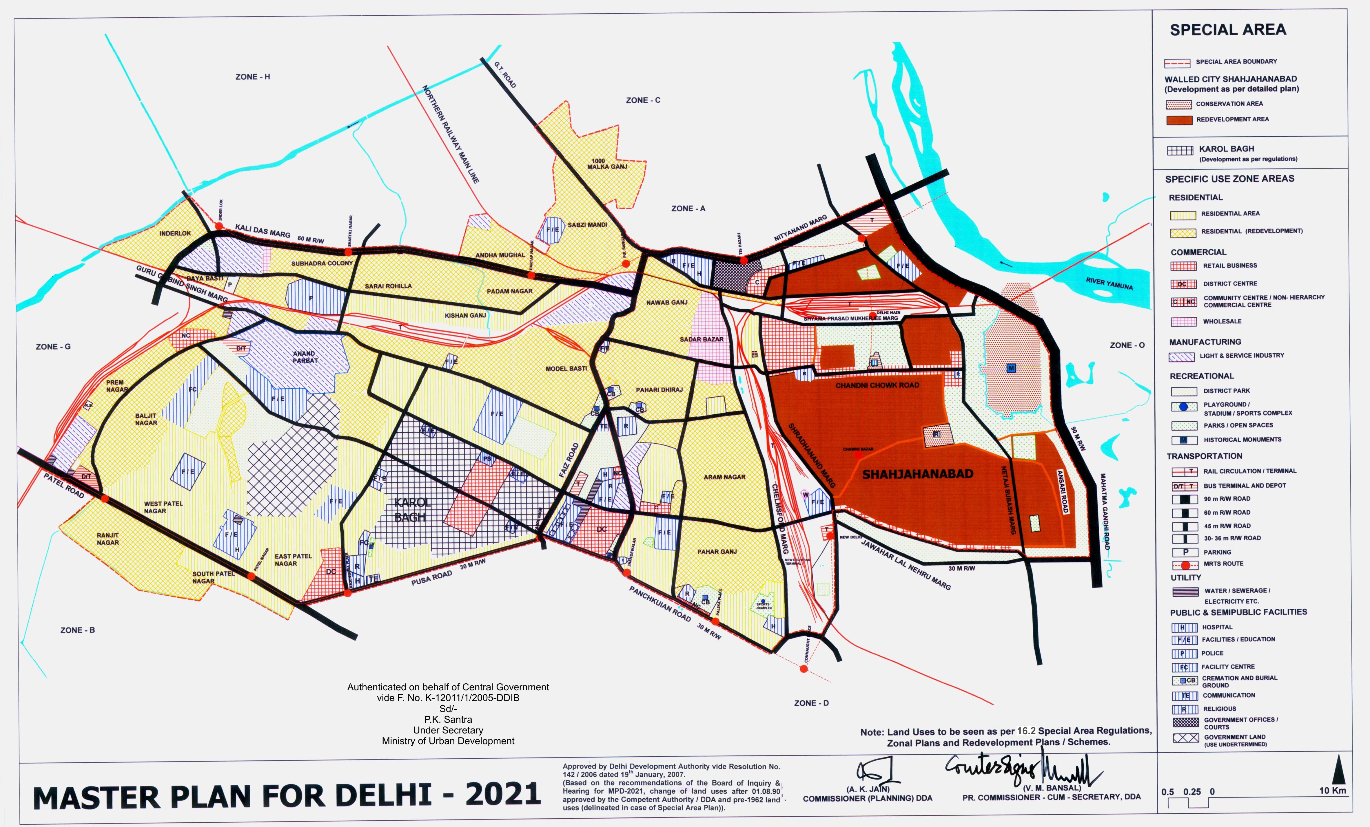Delhi Master Plan 2021  Map Summary  Free Download