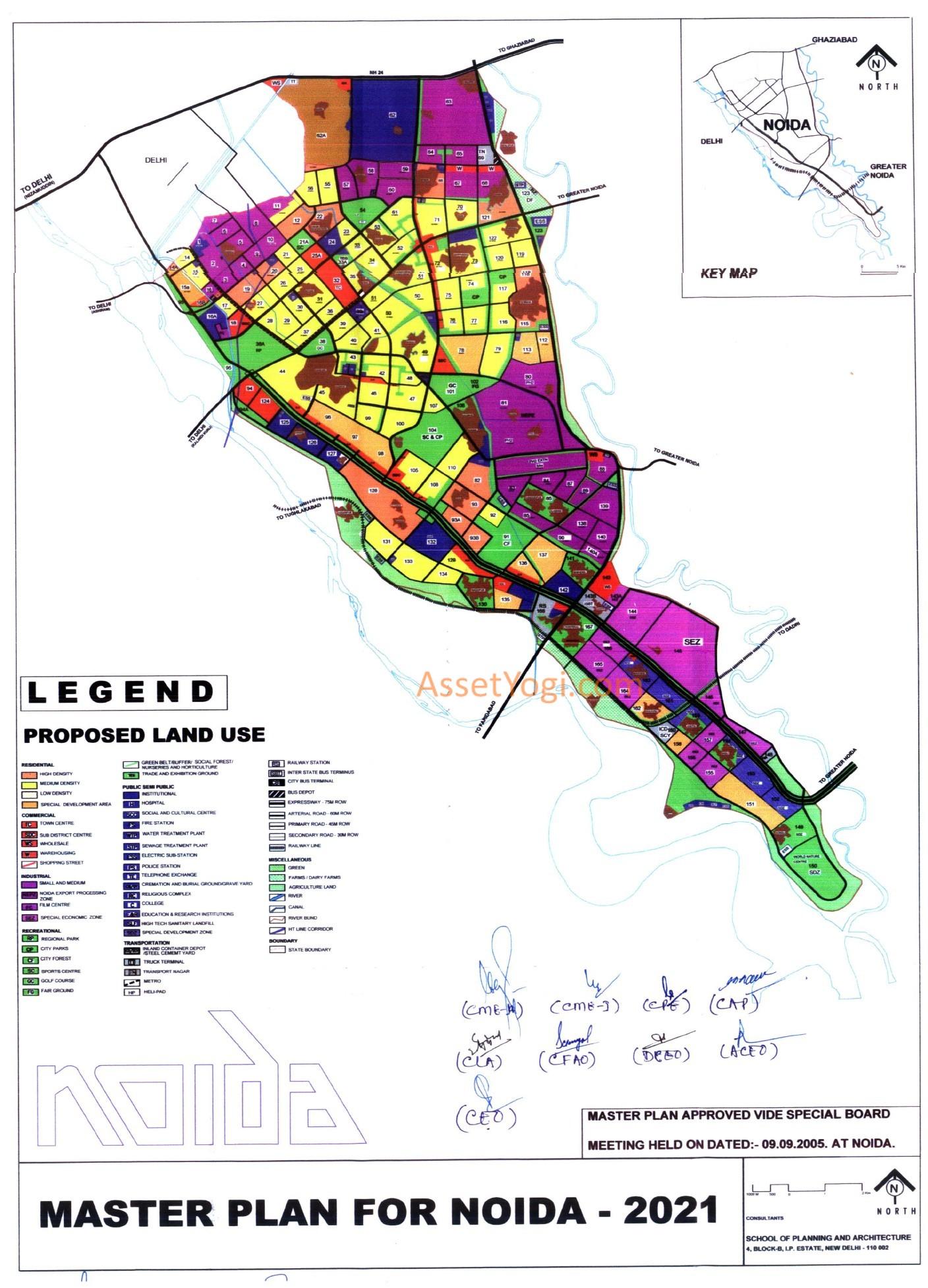 Noida Master Plan 2031, 2021 - Map, Summary & Free Download!